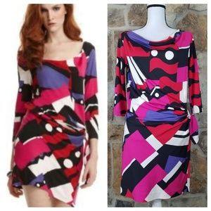NWT DVF 4 Silk Relaxed Della Abstract Print Dress